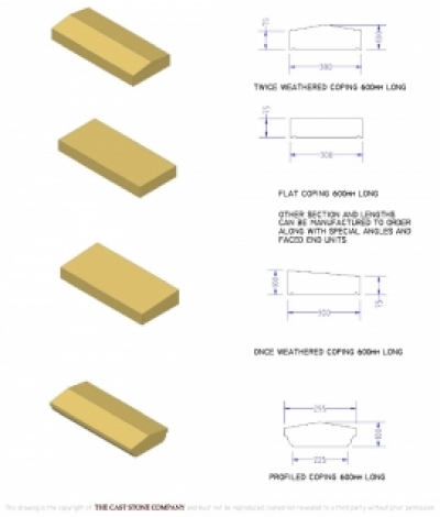 Flat Coping 300 x 75mm